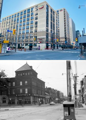 2021/1954 – Courtyard by Marriott at Yonge and Alexander Sts, southeast corner - once Hotel Torontonian