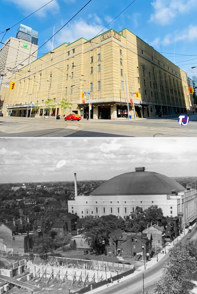 2021/1934 - Maple Leaf Gardens at Carlton and Church Sts, northwest corner - now Mattamy Athletic Centre and Loblaws
