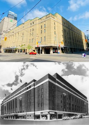 2021/1950 - Maple Leaf Gardens at Carlton and Church Sts, northwest corner - now Mattamy Athletic Centre and Loblaws