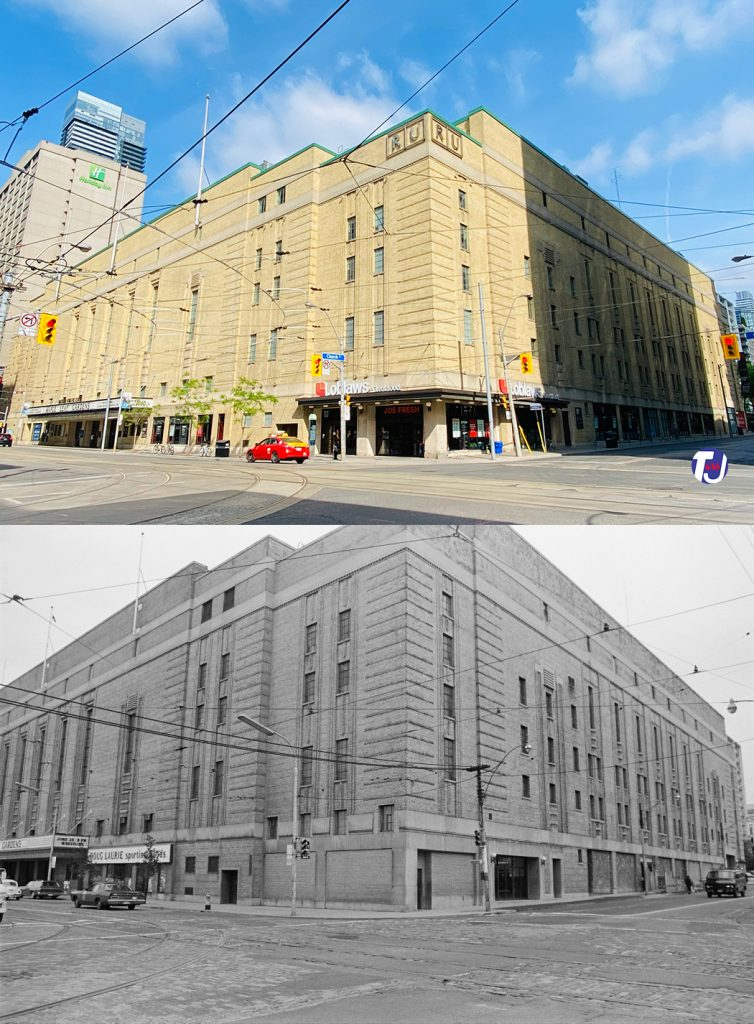 2021/1972 - Maple Leaf Gardens at Carlton and Church Sts, northwest corner - now Mattamy Athletic Centre and Loblaws