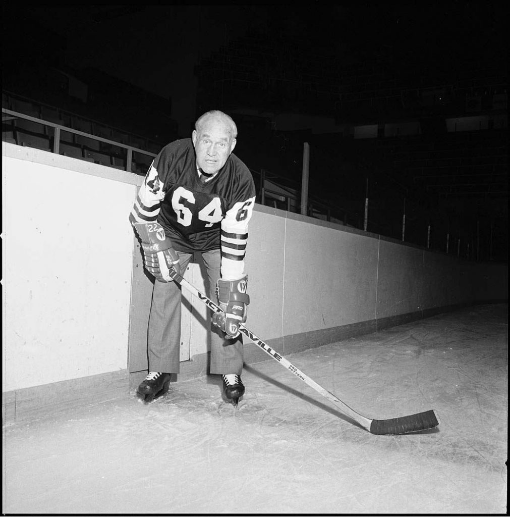1978 - King Clancy on the ice at Maple Leaf Gardens