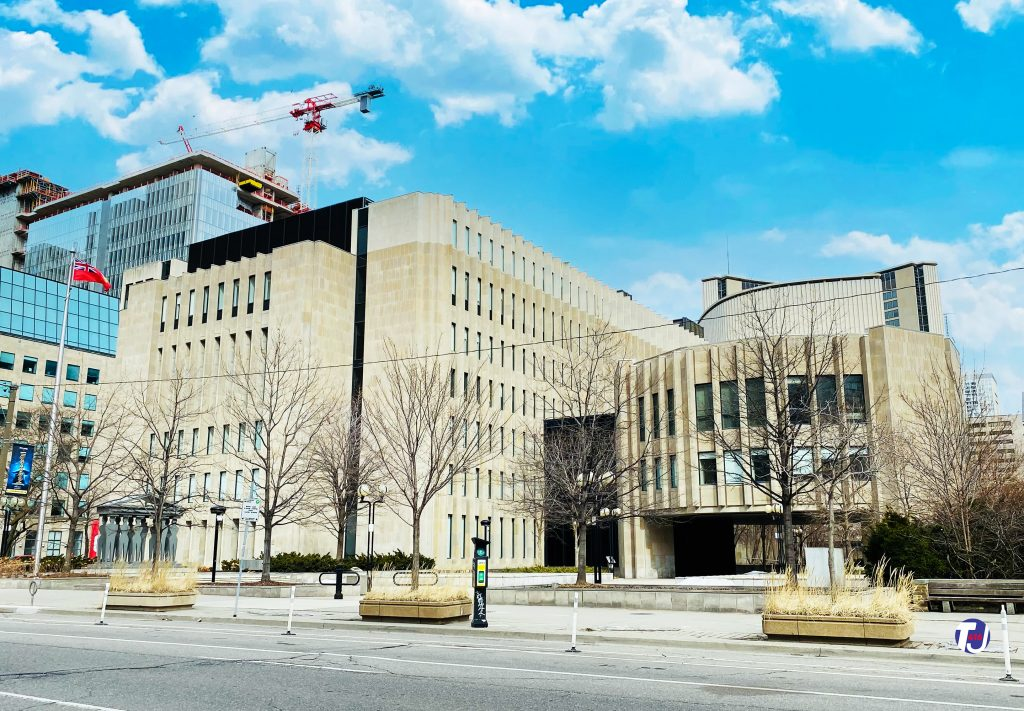 2021 - University Avenue Courthouse - Superior Court of Justice, was once the site of the University Avenue Armouries
