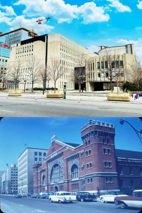 2021/1950-1963 - University Avenue Courthouse - Superior Court of Justice, once University Avenue Armouries at University Ave & Armoury St, southeast corner