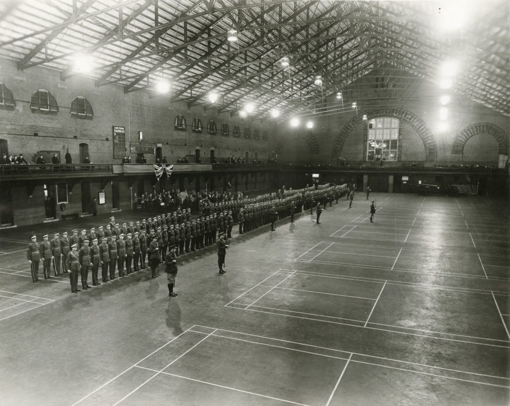 1930's - Drills of Canadian Officers Training Corps (COTC) University of Toronto contingent in the Armouries