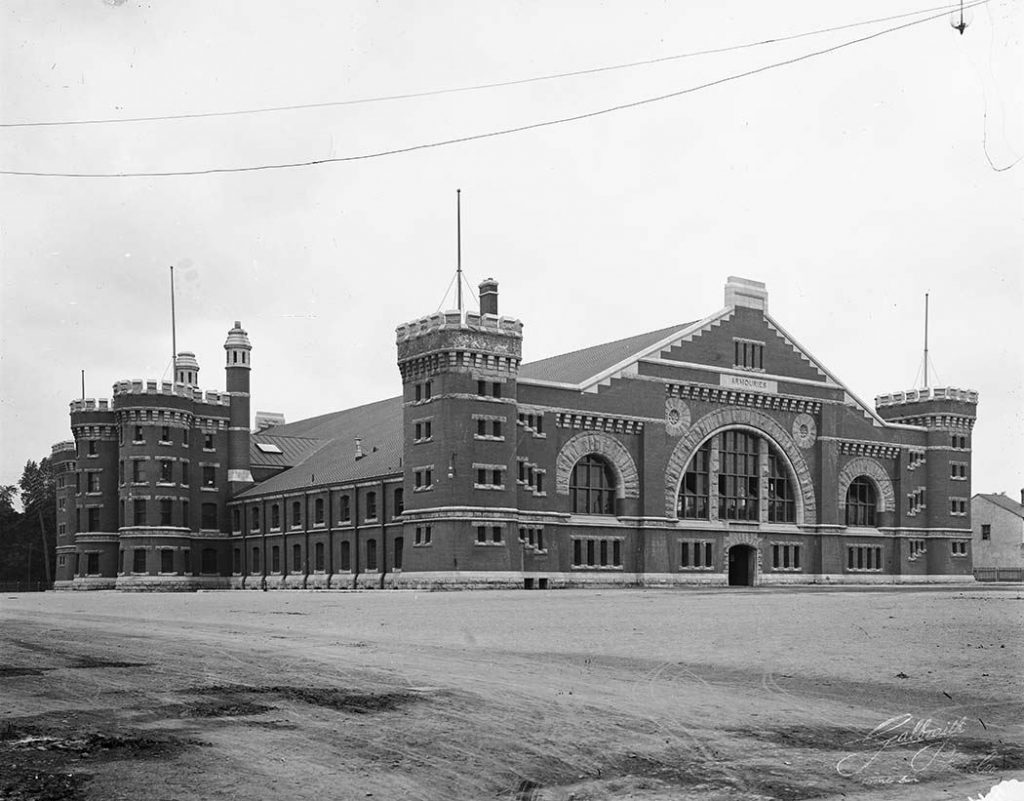 After 1900 - University Avenue Armouries, looking southeast
