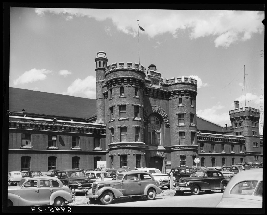 1950 - The south side of the Armouries, looking northeast from then Osgoode St