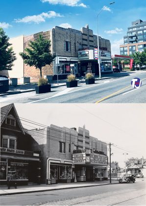 2021/1936 - Allenby build in 1935 and later the Roxy once at 1213 Danforth Ave, south side east of Greenwood Ave - now Tim Hortons and Circle K