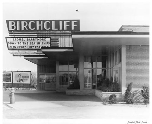 1949 - Birchcliff Theatre once at 1535 Kingston Rd, east of Warden Ave on south side - opened from 1949 to about 1974, building no longer exists