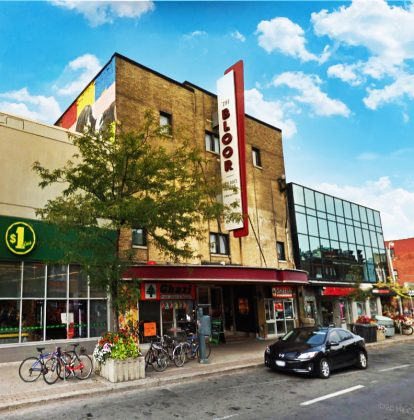 2015 - Bloor Hot Docs Cinema once at 506 Bloor St W, east of Bathurst St on north side - now Hot Docs Ted Rogers Cinema, there has been a theatre in this location since 1913
