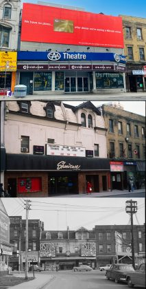 2021/1980's/1950 - CAA Theatre formerly the Panasonic Theatre at 651-653 Yonge St, east side south of Charles St – once Astor later Showcase Cinema
