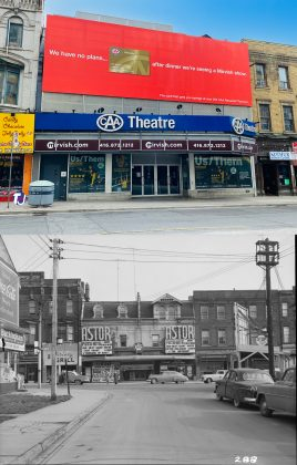 2020/1950 - Astor (later Showcase Cinema) once at 651-653 Yonge St, east side south of Charles St - now CAA Theatre formerly the Panasonic Theatre
