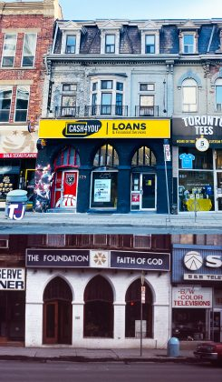 2021/1980's - Cash 4 You at 529 Yonge St, east side north of Maitland St - once The Foundation Faith in God