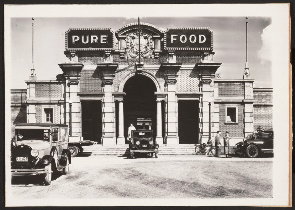 1929 - The Pure Food Building on Exhibition grounds