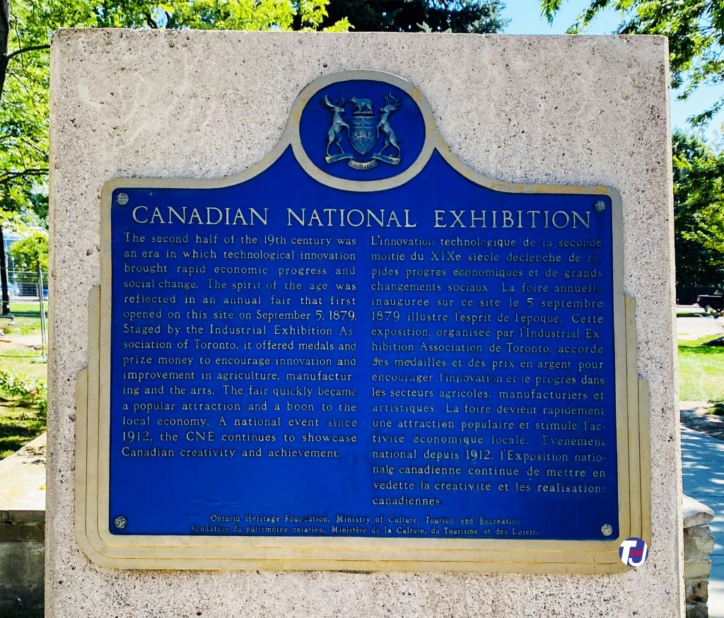 2021 - Canadian National Exhibition heritage plaque