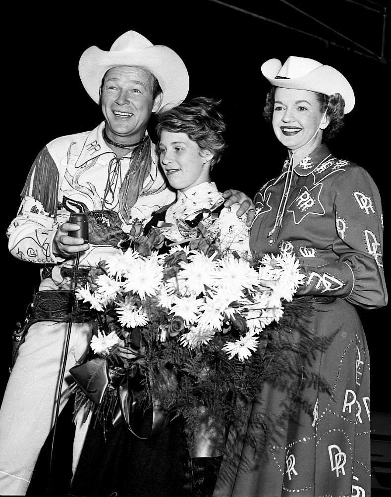 1950's - Roy Rogers and Dale Evans with Marilyn Bell at The Ex