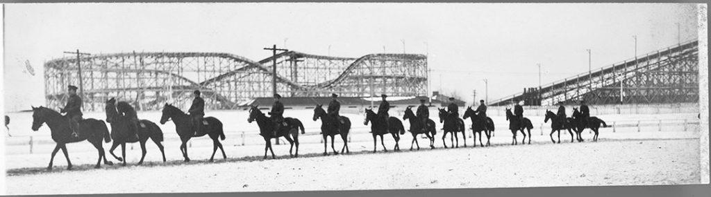 1914 - Calvary training at the CNE Camp during World War I