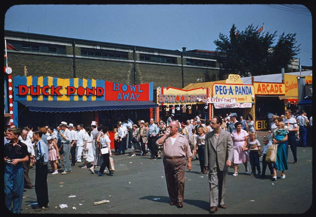 1953 - Duck Pond, Balloon Darts and other games along The Midway