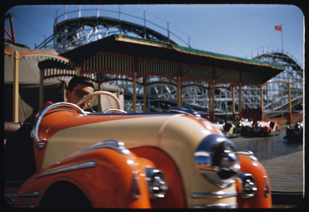 1955 - Bumper cars behind the Grandstand at the CNE