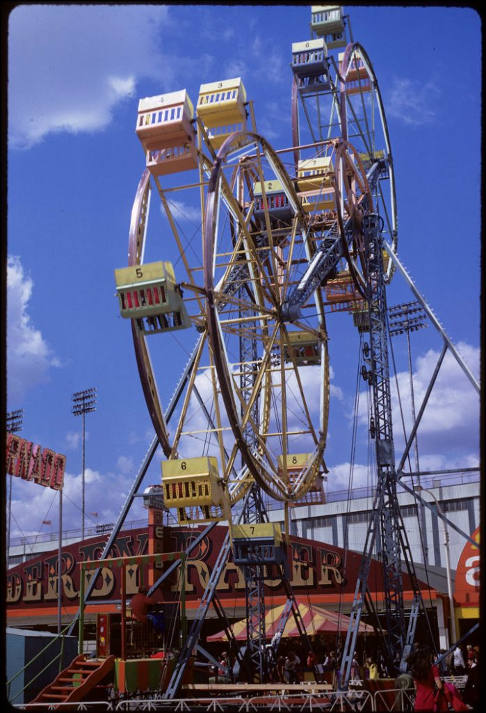 1972 - Double Ferris Wheel with Derby Racer in the background at The Ex