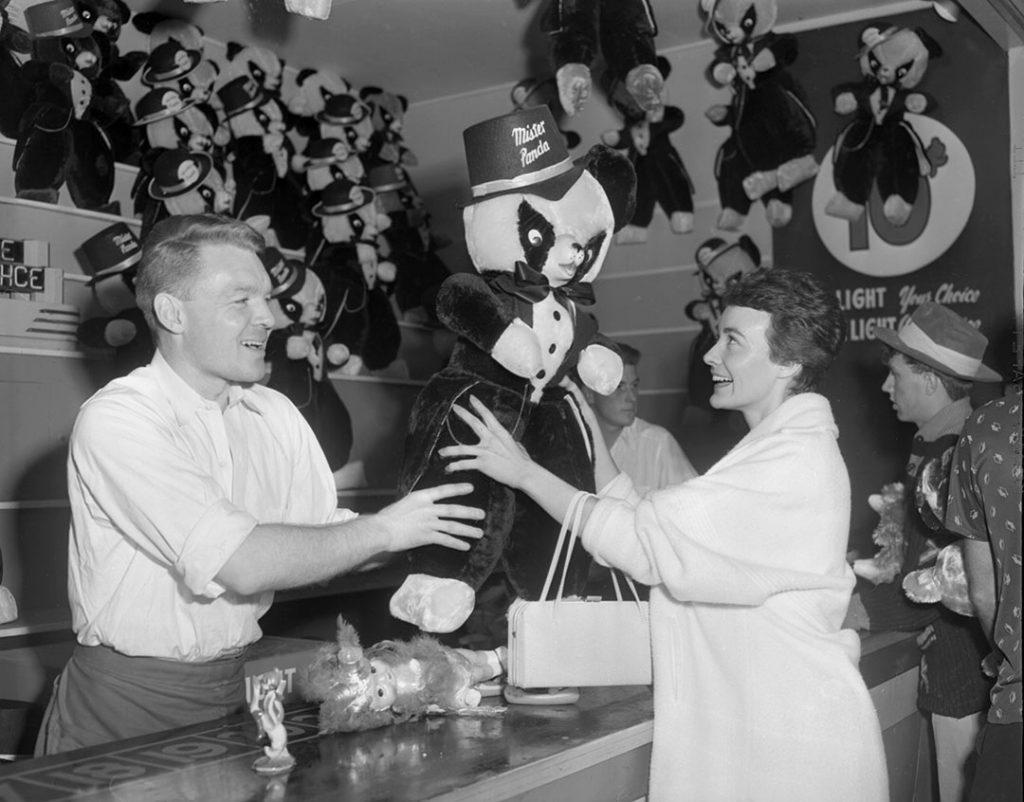 1960's - Winning a Mister Panda stuffed toy