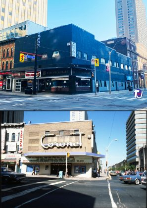 2021/1978-80 - Coronet Theatre originally named The Savoy once at 399 Yonge St at Gerrard St E, northeast corner - now Barclay Jewelry