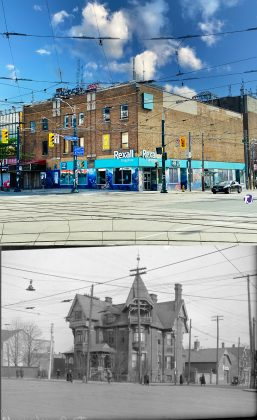 2020/1915 - Dr Henry H Moorhouse's once at Dundas St W and Spadina Ave, northeast corner
