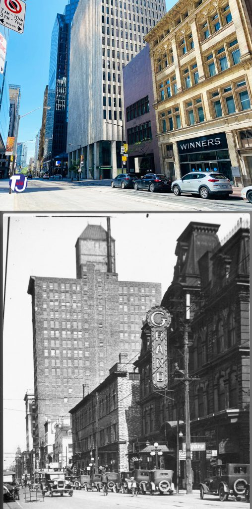 2021/1924 - Grand Opera House once at 9-15 Adelaide St W, west of Yonge St on south side - opened from 1874 to 1927, building no longer exists