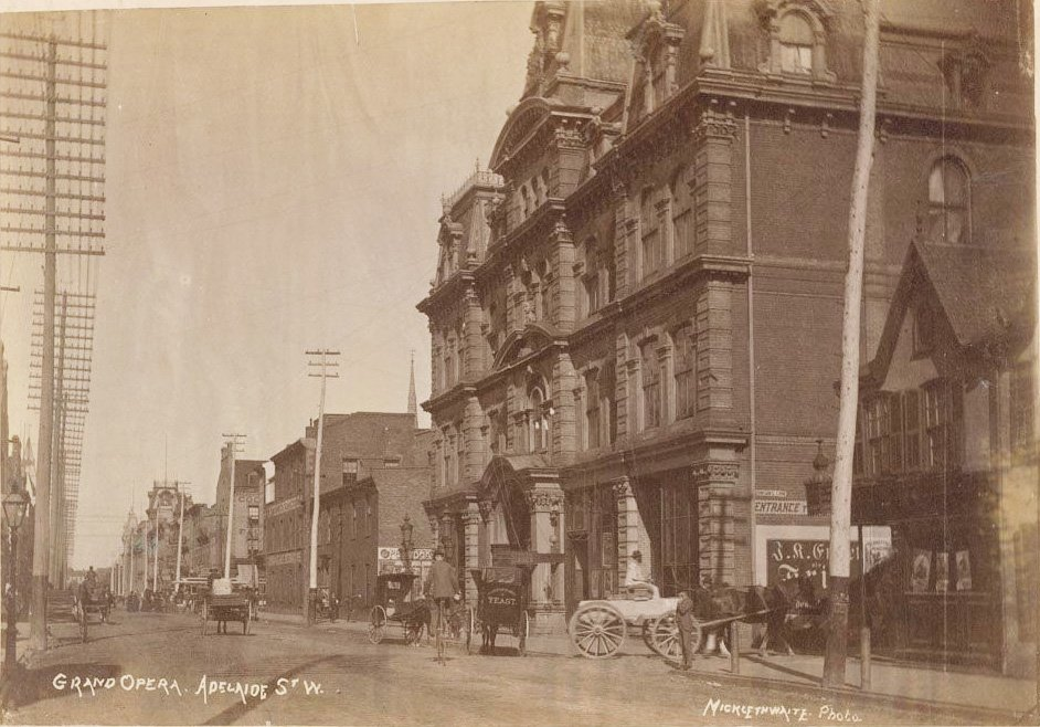 1885/95 - Grand Opera House once at 9-15 Adelaide St W, looking east