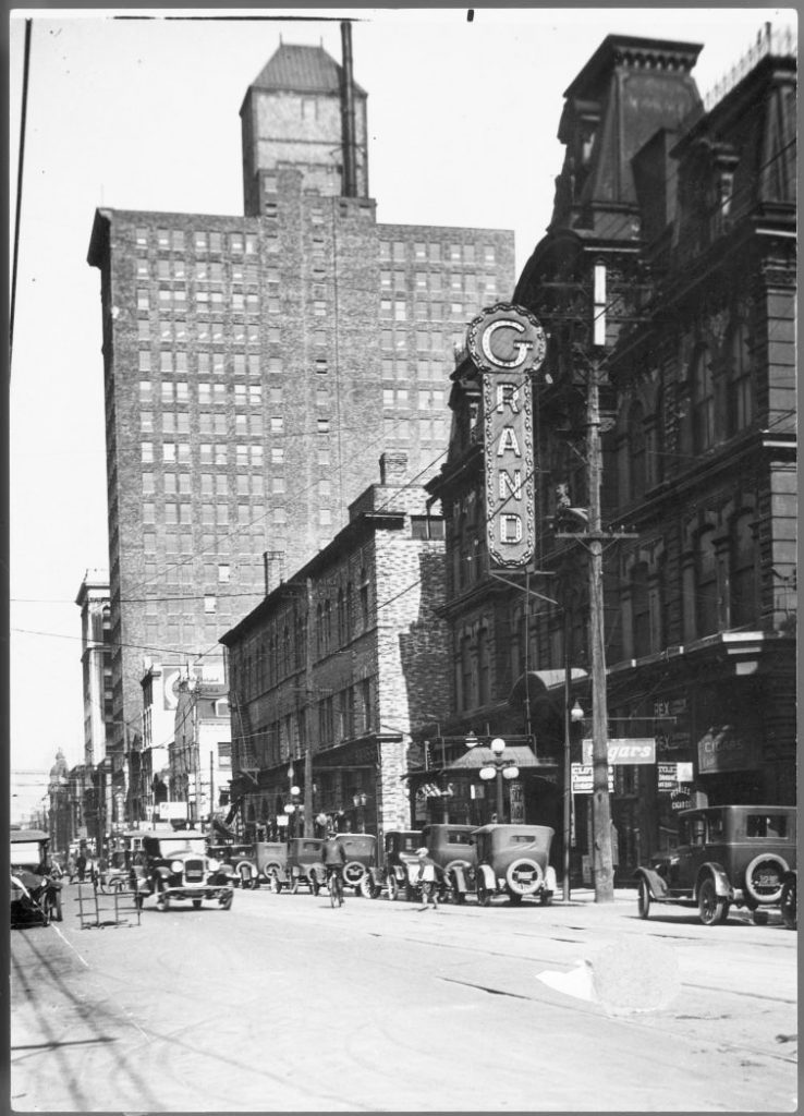 1924 - Grand Opera House once at 11 Adelaide St W, looking east