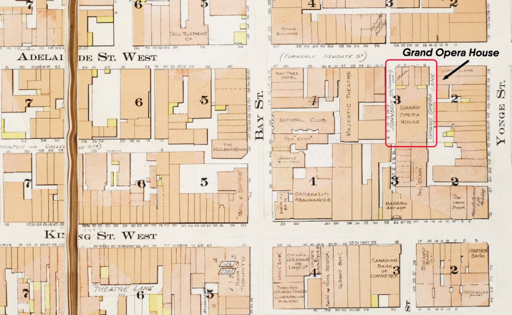 1912 - Goads Map showing the location of the Grand Opera House
