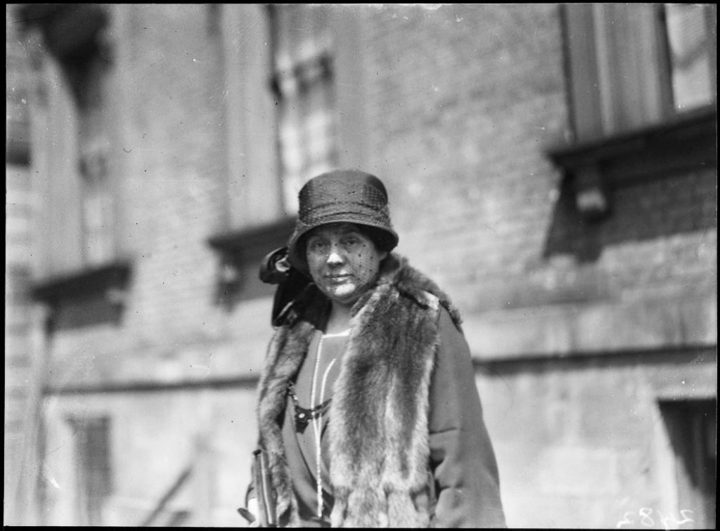 1924 - Mrs Theresa Small, wife of missing Ambrose Small, owner of the Grand Opera House