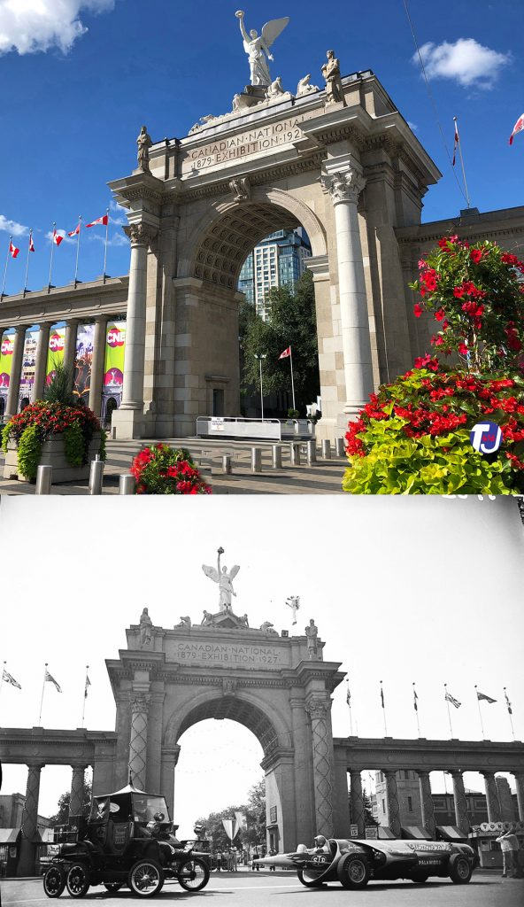 2019/1960 - Princes' Gates entrance to Exhibition Place, at Strachan Ave and Lake Shore Blvd W