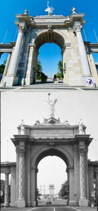 2020/1980's - Princes' Gates entrance to Exhibition Place, at Strachan Ave and Lake Shore Blvd W - opened in 1927