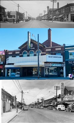 1933/2021/1951 - Regent Theatre at 551 Mt Pleasant Rd, north of Belsize Dr on east side - opened in 1927 and originally named Belsize and later the Crest
