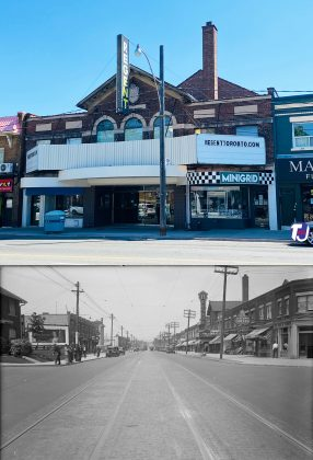 2021/1933 - Regent Theatre at 551 Mt Pleasant Rd, north of Belsize Dr on east side - opened in 1927 and originally named Belsize and later the Crest Theatre