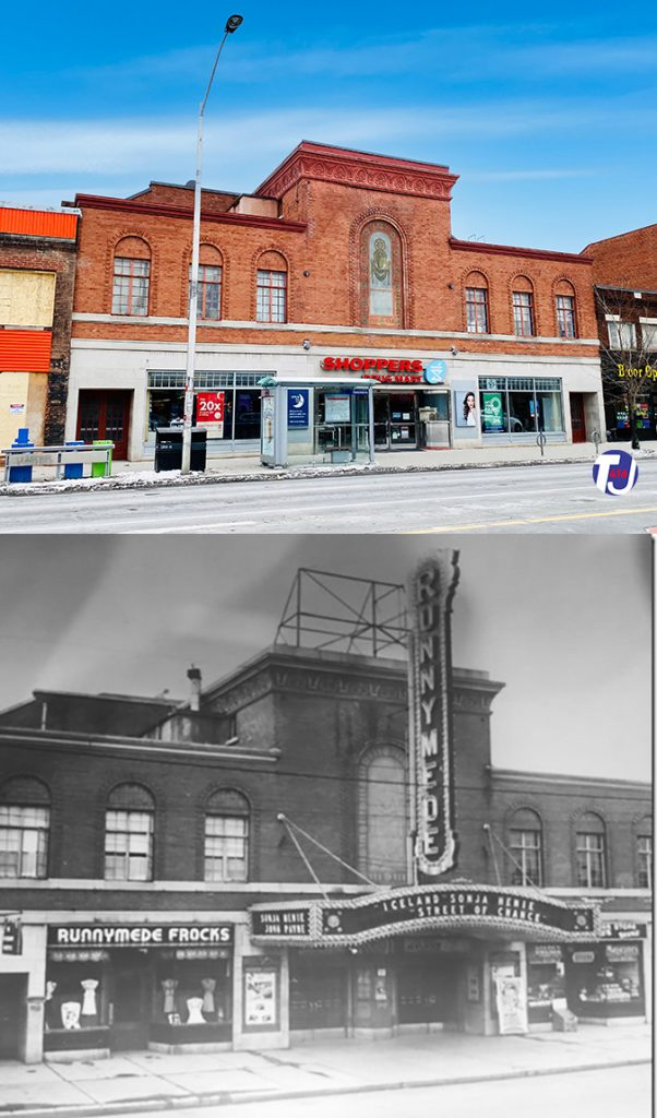 2020/1942 - Runnymede Theatre once at 2223 Bloor St W, south side west of Runnymede Rd - now Shoppers Drug Mart