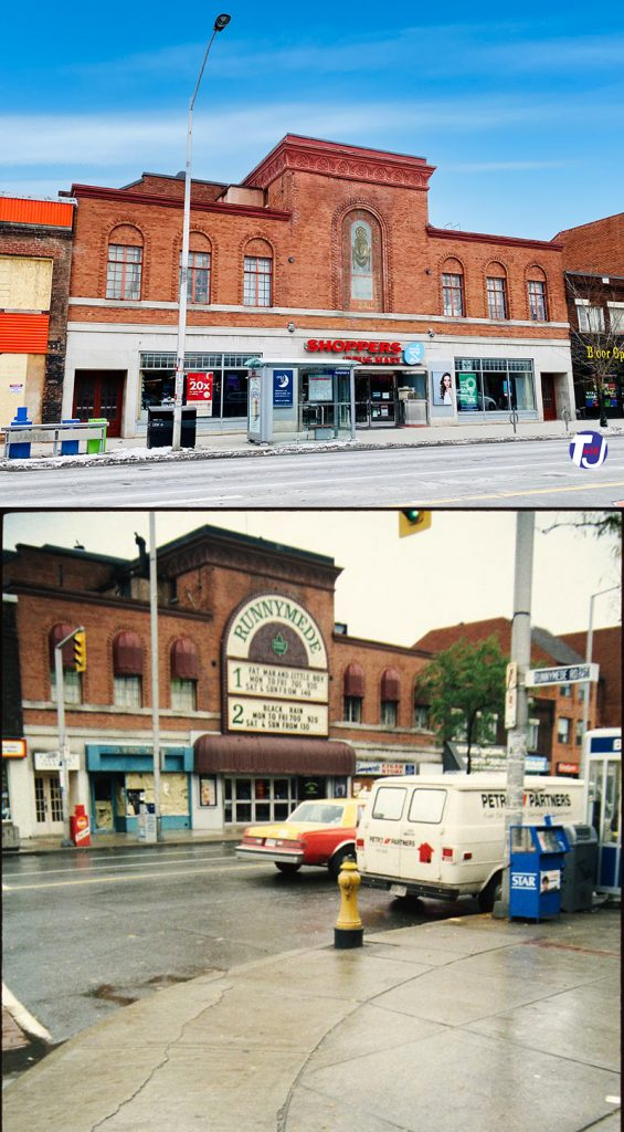 2020/1989 - Runnymede Theatre once at 2223 Bloor St W, south side west of Runnymede Rd - now Shoppers Drug Mart