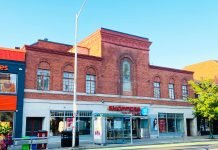Runnymede Theatre once at 2223 Bloor St W in Toronto - now Shoppers Drug Mart (2021)