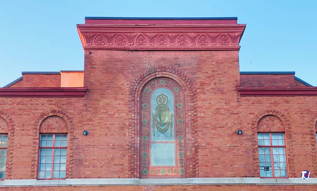 2021 - Ornamental front panel and windows on the exterior of the Runnymede Theatre