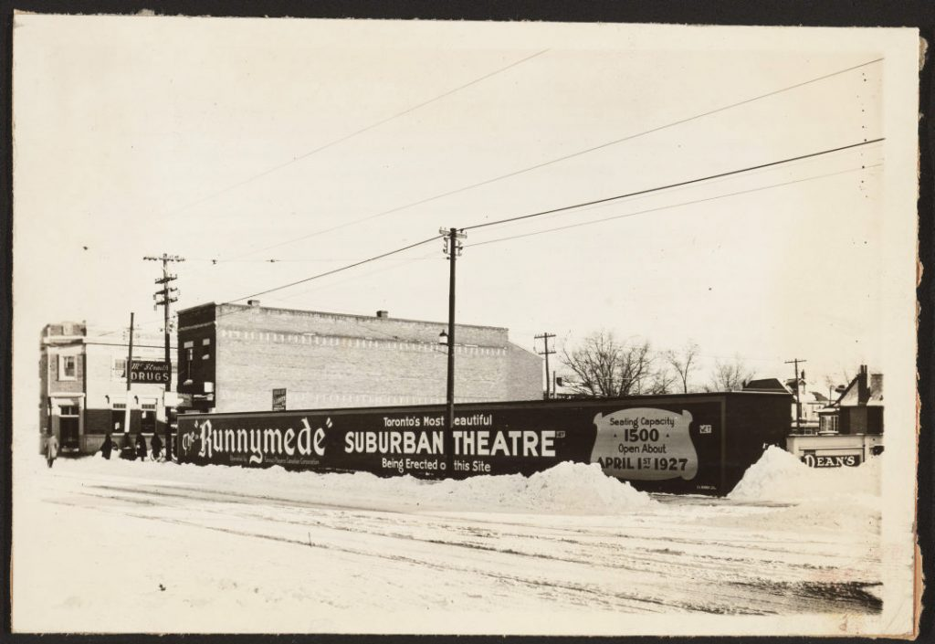 """1920/26 - Future site of the """"Runnymede"""" Suburban Theatre on Bloor St W, just west of Runnymede Rd"""
