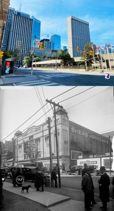 2021/1921 - Shea's Hippodrome Theatre once at 18 Teraulay St (which later became 440 Bay St), north of Queen St W on east side - opened from 1914 to about 1957