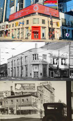 2021/1950/1924 – Yonge St and Dundas St W, northwest corner