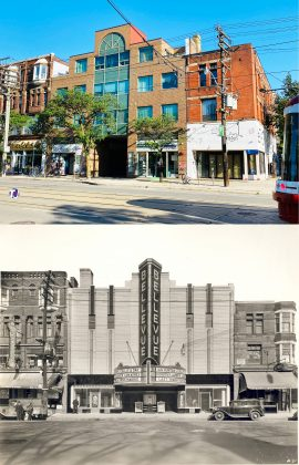 2021/1937 - Bellevue Theatre later Lux Burlesque once at 360-362 College St, north side west of Brunswick Ave - opened from 1937 to 1958, building no longer exists