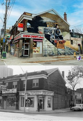 2020/1972 - Chew Chew's Diner at 186 Carlton St and Bleecker St, northwest corner - once Steer Burgers