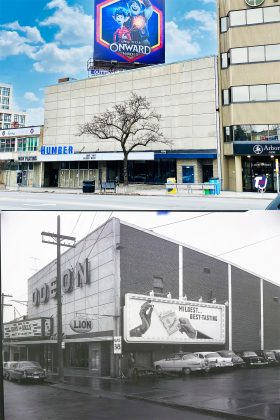 2020/1955 – Odeon Humber Theatre, later Humber Cinemas once at 2442-2444 Bloor St W, west of Jane St on north side - opened from 1949 to 2019