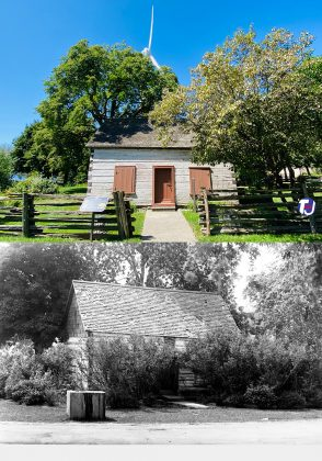 """2021/1928 - Scadding Cabin located at the southwest end of Exhibition Place - the cabin is in an area known as the """"Historic Mile"""" near Fort Rouillé, the Stanley Barracks and Fort York ("""