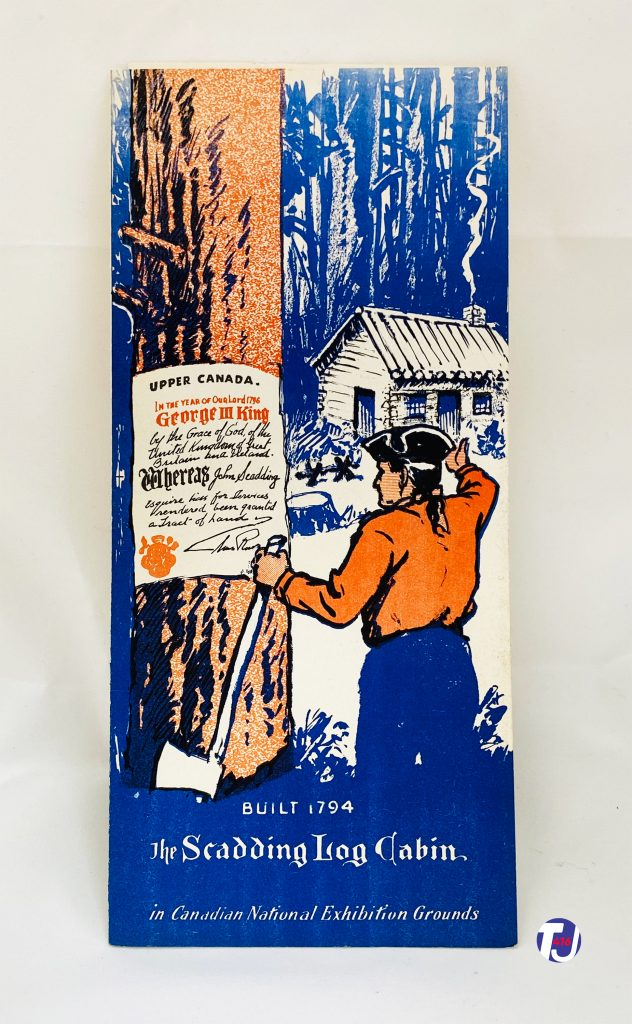1950's - Brochure cover for Scadding Log Cabin
