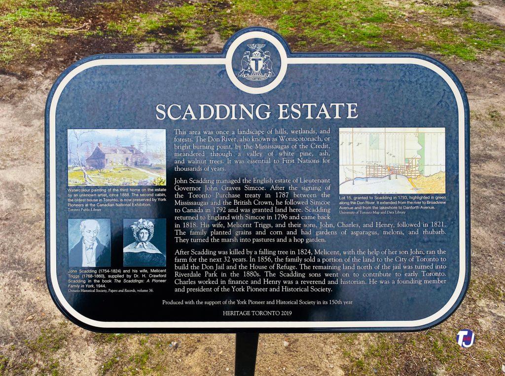 2020 - Scadding Estate heritage plaque located at Riverside Park East