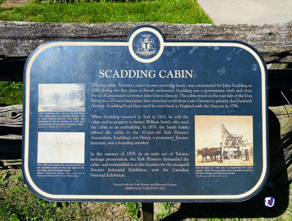 2021 - Scadding Cabin heritage plaque