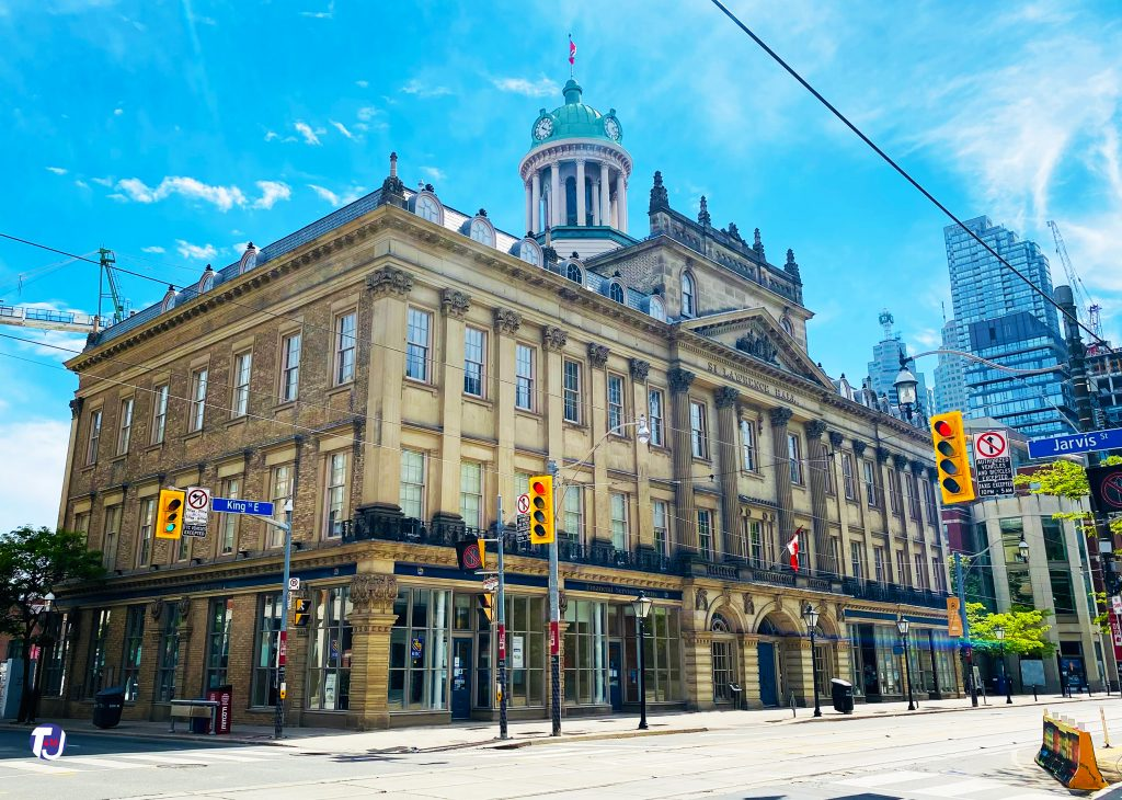 2021 - St Lawrence Hall at King St E and Jarvis St, looking southwest